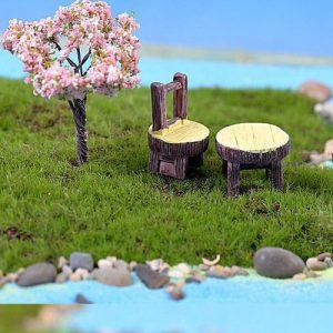 Bộ bàn ghế giả gỗ mẫu 1