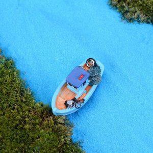 cát màu xanh nước biển