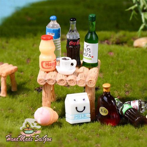 chai nước hộp sữa mini dollhouse