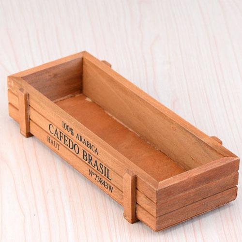 Hộp gỗ trồng sen đá một ngăn