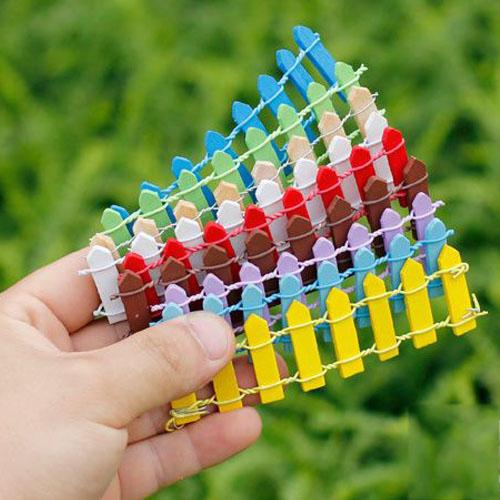 Hàng rào nhiều màu loại dài
